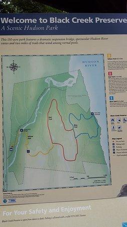 Esopus, Nova York: Map of trails