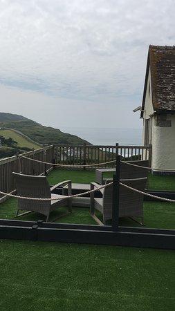Widemouth Bay, UK: balconcini delle camere, vista campagna e mare