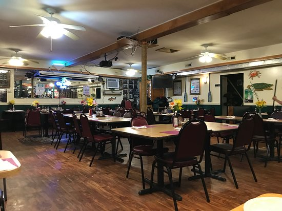 Port Deposit, MD: This is the Dining area. You walk through a bar with pool tables to get here.