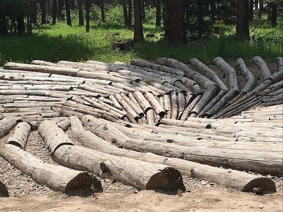 Blackfoot Pathways:Sculpture in the Wild: The whirlpool vortex (Chris Drury).