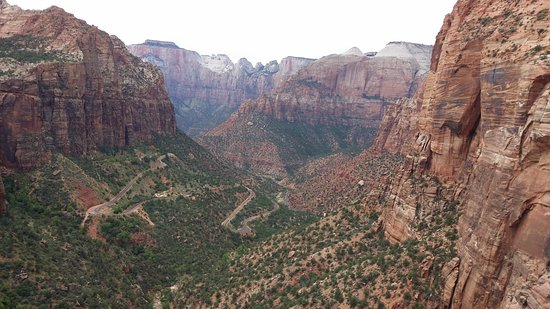 Canyon Overlook Trail: surrounding view from top of trail.
