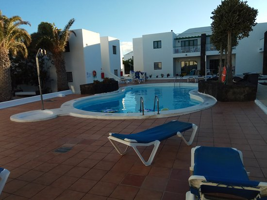 Pool area in the courtyard