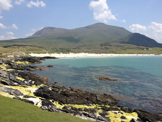 Silver Strand, With Mweelrea Mountain In The Background. Silver Strand  Picture