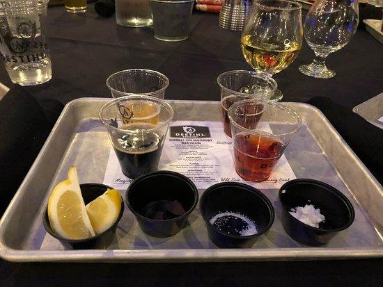 DESTIHL Brewery: beer samples