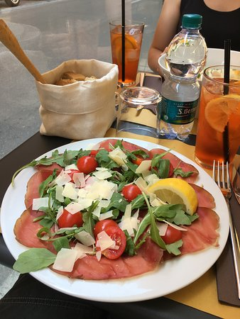 Lunch Salad and Aperitif
