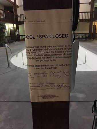 York, NE: Health department safety notice regarding pool.