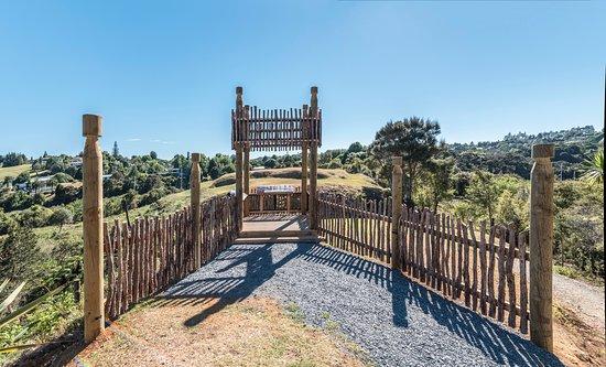 Kerikeri, Nieuw-Zeeland: Māori lookout tower at Koropiro Heritage Park.