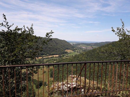 La Chatelaine, Frankrike: Après l'effort, une vue magnifique sur la vallée