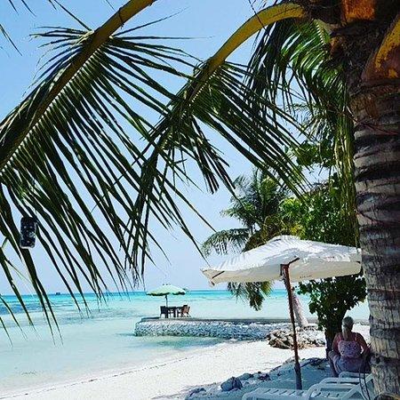 Dhiffushi Island: Уединенный столик среди океана (Crown beach)