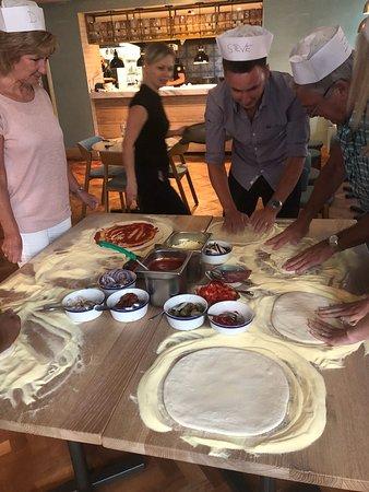 Preparing the dough!