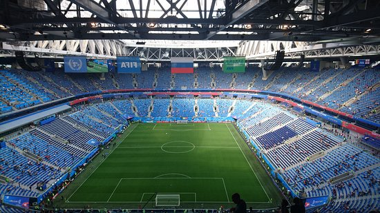 Inside - Picture of Gazprom Arena, St. Petersburg ... Газпром Арена