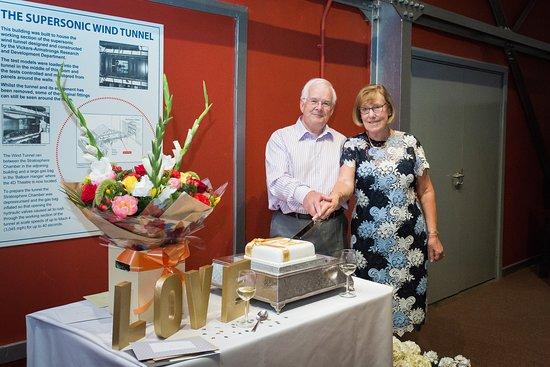 Brooklands Museum: Cake cutting