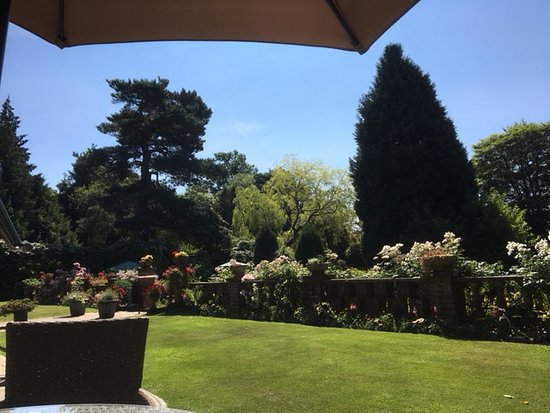 Lastingham, UK: View from our table on the terrace