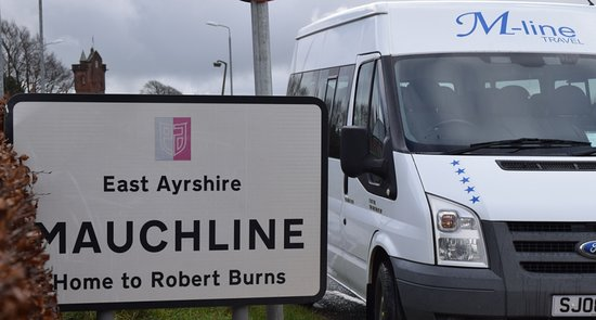 Mauchline, UK: One of M-Line Travels Vehicles. www.m-linetravel.co.uk