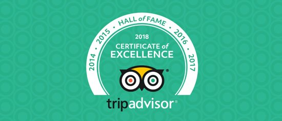 Grafton Regis, UK: Certificate of Excellence Hall of Fame for 5 consecutive years