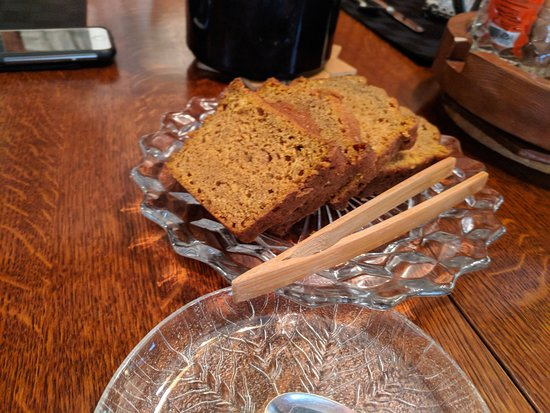 9 Cranes Inn: I think this is carrot bread.