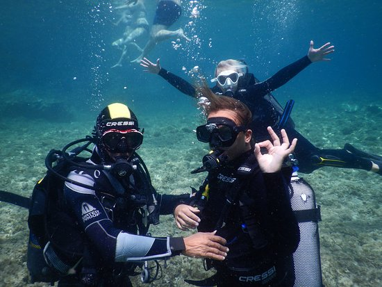 Zakynthos Town, Yunani: Diving for beginners-padi courses-discovery snorkeling join us the best place ever Porto Limnion