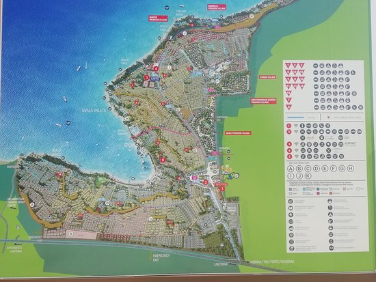Mapa Picture Of Lanterna Premium Camping Resort Porec Tripadvisor