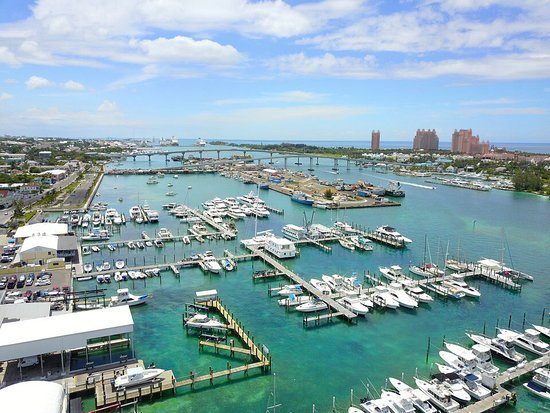 New Providence Island: Drone Photography of Nassau Yacht Haven