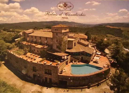 Canalicchio, Italy: Hotels own ariel photo