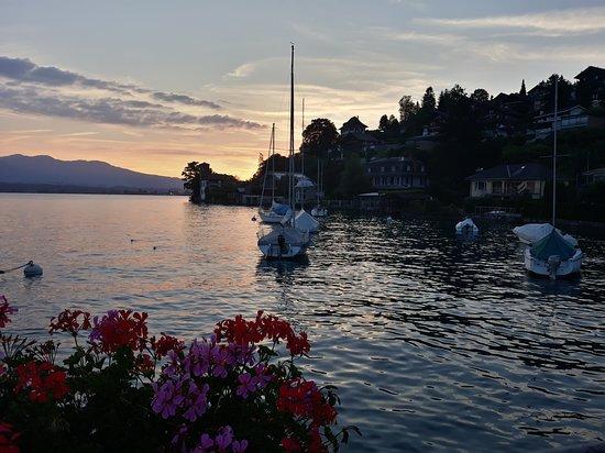 Oberhofen am Thunersee, Switzerland: Vue sur le port