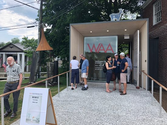 Opening reception for the Sculpture Walk in the Washington Depot.