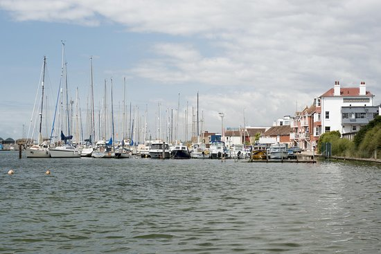 Southwick, UK: View over the marina