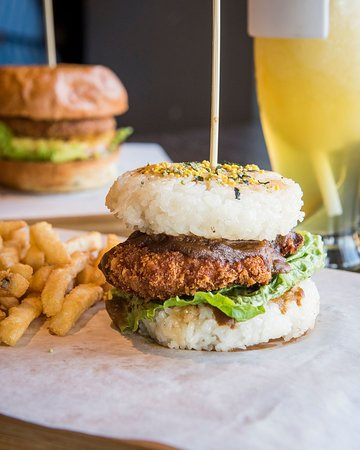 Unionville, Kanada: Curry Chicken Katsu Rice Burger