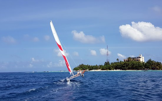 Thulusdhoo Island: Embark on a catamaran and experience sailing at it's best in Maldives! #seasonactivities