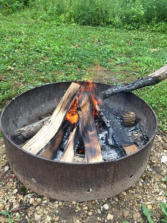 Cascade, WI: Fire pit at every site!