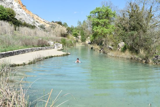 """Parco dei Mulini : The lower warmer pool """"The Outdoor Bath"""" a@PdM - BV"""