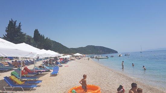 Dhermi Beach: Start of the beach from the main restaurant