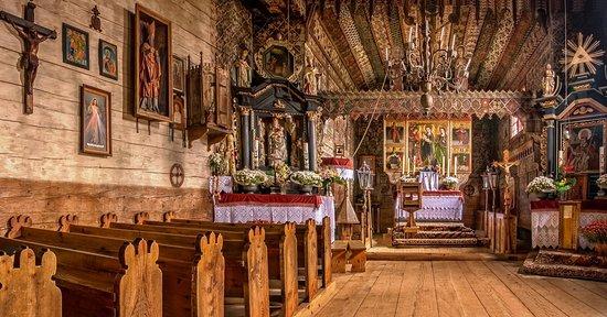 Debno, Pologne : Kościół św. Michała Archanioła w Dębnie wnętrze