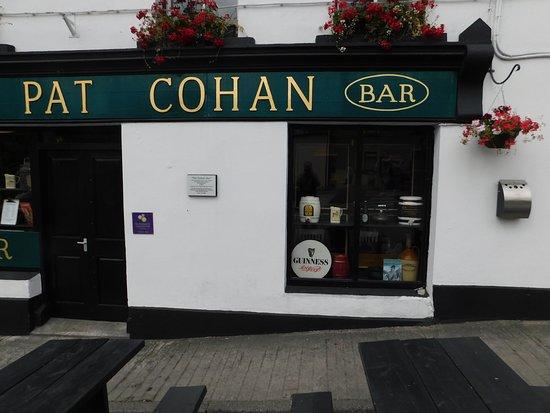 Pat Cohan's Bar: Close up of window