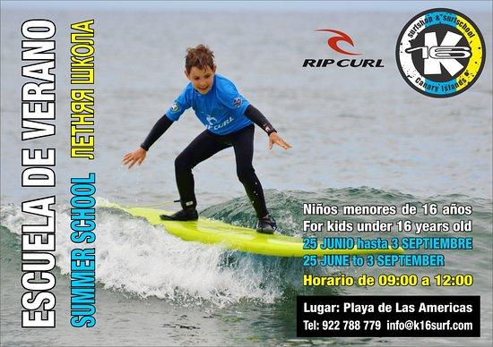 Escuela de surf de Verano para niños