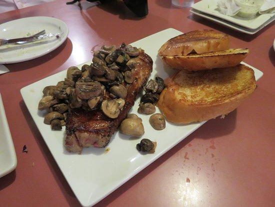 AL The Wop's: Steak with Mushrooms