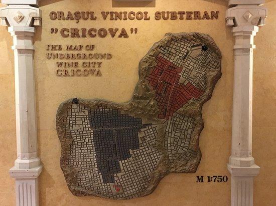 Cricova, Moldawien: Plattegrond