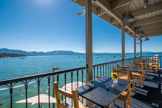 Beach Retreat & Lodge at Tahoe: View from the Boathouse on the Pier patio