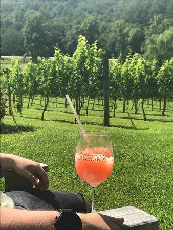 Hightower Creek Vineyards: Enjoying fresh peach and wine slushies at the vineyard!