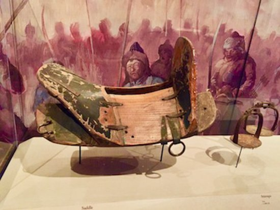 The saddle in Genghis Khan's era, and the meat was cooked by