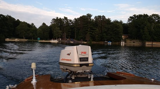 Bitters + Bull - Lake Tomahawk WI - leaving boat landing - Old Fashioned - Hwy 47 - Oneida Count