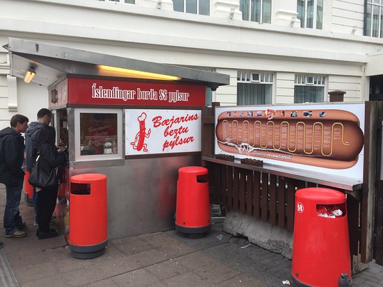 Bæjarins Beztu Pylsur: Great hot dog stand, visited in the past by US Presidents