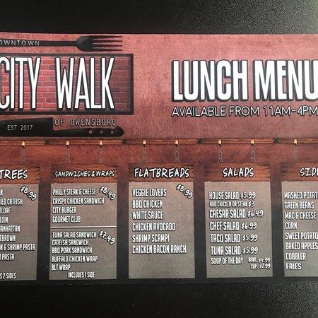 City Walk Of Owensboro Menu Prices Restaurant Reviews Order