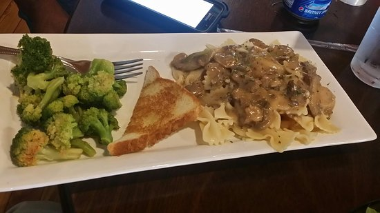 Marietta, OK: Featured beef stroganoff