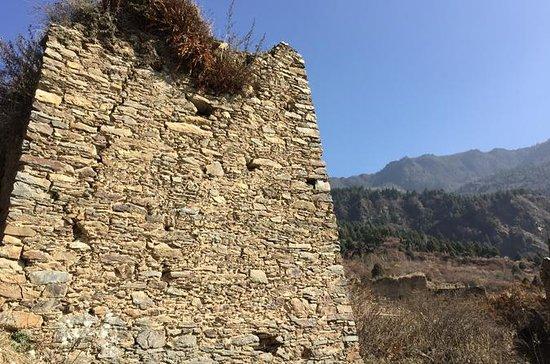 Himalaya Tibetan-Qiang tribe village...