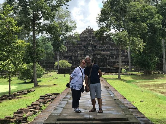 Battambang Province, Cambodia: A lovely couple at Baphoun Temple