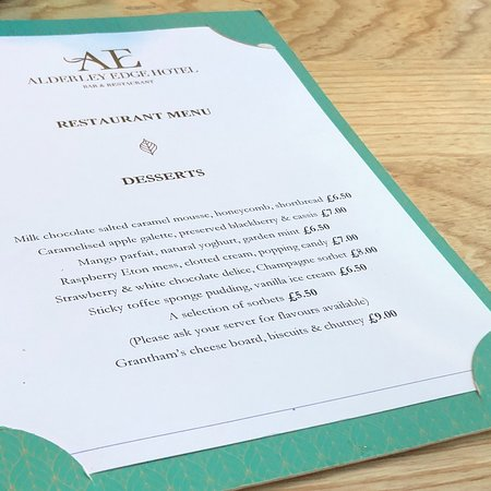 Memories of a super celebration meal at The Alderley Edge Hotel