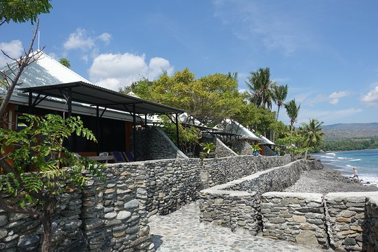 Liquica District, East Timor: Front courts of the villas.