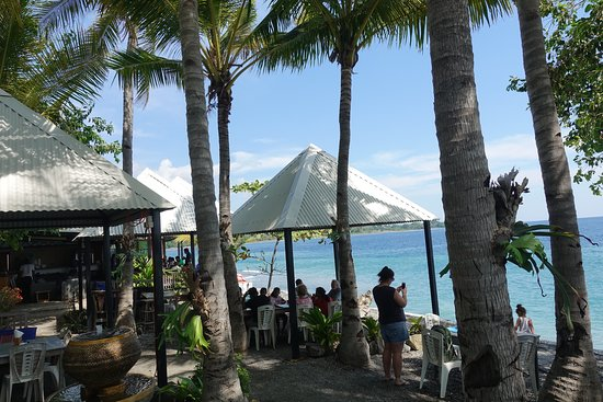 Liquica District, East Timor: Black Rock Restaurant on Weekend.