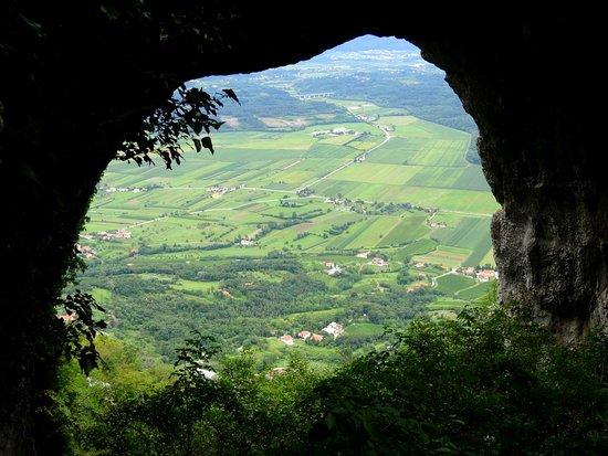 The Natural window Skozno near Nova Gorica (Slovenia)